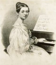 "Fun Fact Friday! If you search ""Schumann"" in Google, the first name that appears is Robert Schumann. Although ""he is widely regarded as one of the greatest composers of the Romantic era"", his wife, Clara, was a child prodigy!  By age 7, Clara was spending 3 hours a day learning piano...does the average college music student even practice that much?! Clara began composing at age 10, and had her concert debut at age 11! #hsmluncg #funfactfriday #claraschumann #clarawieck #childprodigy"