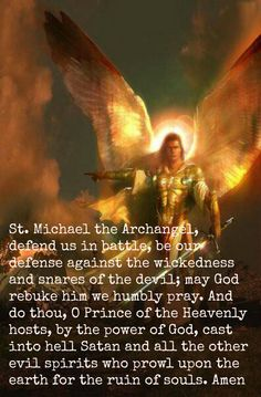 Prayer to St. Michael, the Archangel