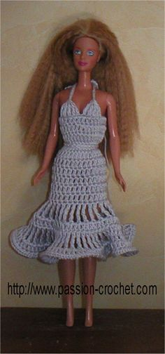 Robes au crochet pour poupée Barbie