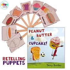 Peanut Butter and Cupcake retelling puppets.
