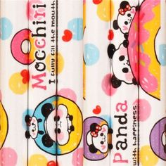 white-pink panda bear and donuts pencil from Japan
