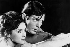 Christopher Reeve as Clark Kent (Superman) and Margot Kidder as Lois Lane