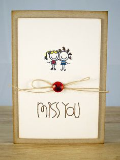miss you - card ideas