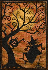 NEW! XS127-Moodance cross stitch chart by Teresa Kogut #crossstitch #halloween