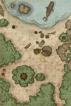 Just some Dungeons and Dragons battlemaps. Getting back into map painting - Imgur