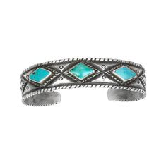 Hand wrought ingot silver bracelet set with turquoise by Jesse Robbins. Measures 6 with a 1 opening. Silver Accessories, Silver Jewelry, Silver Bracelets, Silver Earrings, Jewlery, Cuff Bracelets, Turquoise Rings, Turquoise Bracelet, Multiple Earrings