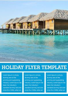 Microsoft Office Holiday Flyer Template Free Holiday Flyer - Rental property flyer template