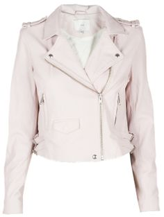 Light baby pink leather jacket | Coats, A well and Leather jackets