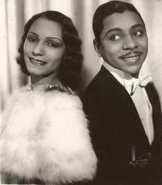 "Ballroom dancers Margot Webb and Harold Norton. They performed as ""Norton and Margot"" in the 1930s and 1940s. Brenda Dixon Gottschild (Amel Larrieux's mother) has a wonderful book, Waltzing in the Dark: African American Vaudeville and Race Politics in the Swing Era, with a wealth of information on their career."