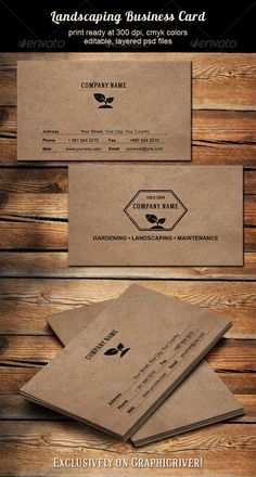 Business card for landscaping, gardening, lawn maintenance,.. business.