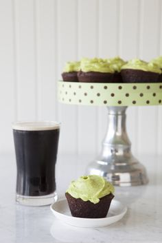 Epicure's Chocolate Cupcakes for St.Patrick's Day