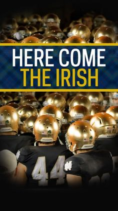 """""""Notre Dame"""" is """"Our Lady"""" in French. Notre Dame Football, College Football Teams, Oregon Ducks Football, Ohio State Football, Alabama Football, American Football, Buckeyes Football, Oklahoma Sooners, Football Helmets"""