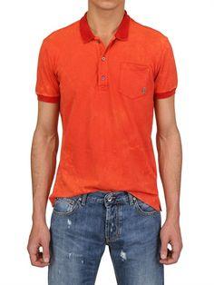 Pierre Balmain tangerine tango polo shirt