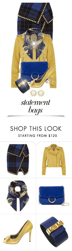 """""""Pure Happiness"""" by shamrockclover ❤ liked on Polyvore featuring Balmain, River Island, Aspinal of London, Vince Camuto, Lanvin, Hermès and Beverly Hills Charm"""