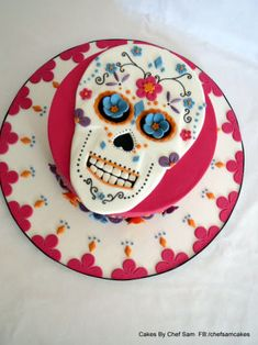 Chorizo cake fast and delicious - Clean Eating Snacks Fondant Cakes, Cupcake Cakes, Cupcakes, Zoe Cake, Sugar Skull Cakes, Day Of The Dead Cake, Halloween Cakes, Halloween Birthday, Birthday Fun