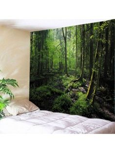 Forest Trees Print Tapestry Wall Hanging Art