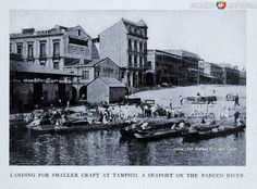 Embarcadero en el Rio Tamesi antes de ser desecado