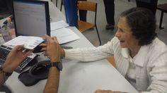 D. Helena Augusta Martins, 81 anos, muito simpática, moradora do Jabaquara que veio atualizar seu RG. O último foi feito em 1976.
