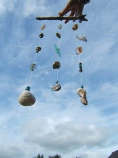Sea Treasures mobiles - I should do this with the tid bits I have left collected as a child