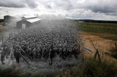 August German prisoners of war captured after the D-Day landings in Normandy are guarded by US troops at a camp in Nonant-le-Pin, France. Today is the Anniversary of D-Day D Day Normandy, Normandy Beach, Then And Now Photos, Before And After Pictures, D Day Beach, D Day Landings, Prisoners Of War, History Photos, World History