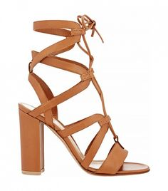 Gianvito Rossi Strappy Lace-Up Sandals // Tan heels