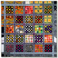 """Sue Benner: CELL TYPE #1 ______________________________ 2010- 45"""" x 45"""" art quilt; dye and paint on silk and cotton, found fabric,  recyclyed clothing,..."""