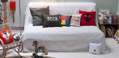 #yellowvelvet Coussins décoration enfant: coussins deco lit enfants, coussin design chambre enfants, coussins animaux