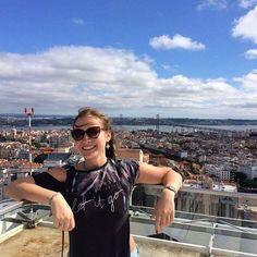 Let it go.  Somewhere high in the Lisbon 🙌 .  #lisbon #lisboa #Portugal #view #brigde #water #river ##sky #nature #girl #travel #travelgram #viagem #travelgirl #travel #europe #photooftheday #photo #happiness  #photography #city #cityview #letitgo