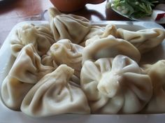 Khinkali (Georgian: ხინკალი) is a very popular Georgian dumpling made of twisted knobs of dough, stuffed with meat and spices. It is considered to be one of the national dishes of Georgia.