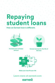 If you're browsing Pinterest, it'll come as no surprise—we live in a world with lots of choices. So how come when it comes to student loans, things are so limited? Fortunately Earnest is here to flip the script. Clients who refinance their loans with Earnest get to choose their terms—and enjoy a range of flexible benefits. Check your rate and see your savings in just 2 minutes!
