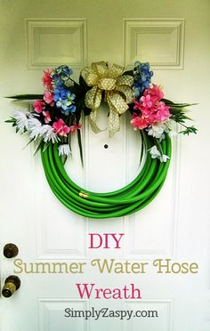 DIY Summer Water Hose Wreath