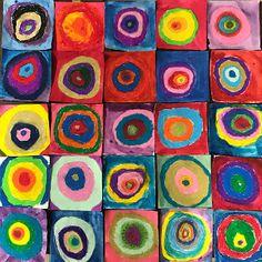 Elements of the Art Room: 3-5th grade Kandinsky inspired mural