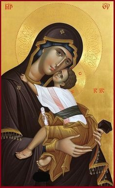 HANDMADE BYZANTINE ICON OF OUR LADY THEOTOKOS AND CHILD ON WOOD Handpainted Byzantine Icon of  THEOTOKOS & CHILD  on wood with original GOLD LEAF 22 karats backround and polished Halo   MADE TO ORDER  This icon is made to order. From the time of the payment, I need 7 to 20 days to complete the icon,
