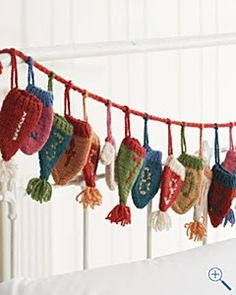 Knit Advent garland...Adorable!