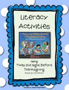 Literacy Activities for 'Twas the Night Before Thanksgiving  $