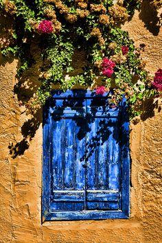 blue window - Ierapetra, Lasithi  Greece
