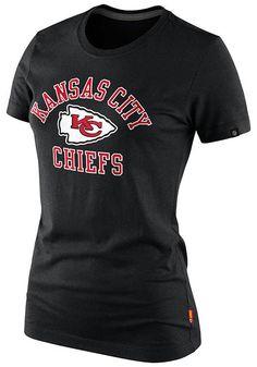 Kansas City (KC) Chiefs Women's Nike Grey Short Sleeve Shirt http://www.rallyhouse.com/shop/kansas-city-chiefs-nike-1255400 $32.00