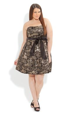 Plus Size Prom Floral Dress