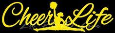 Cheer Life Cheerleader in Split Vinyl Decal Vehicle Spirit Auto | LilBitOLove - Housewares on ArtFire