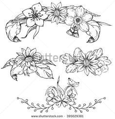 Flower Line Drawing zdjęć stockowych, obrazów i zdjęć   Shutterstock