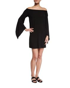 Liquid+by+Luxe+Bell-Sleeve+Coverup+Dress+by+Luxe+by+Lisa+Vogel+at+Neiman+Marcus.