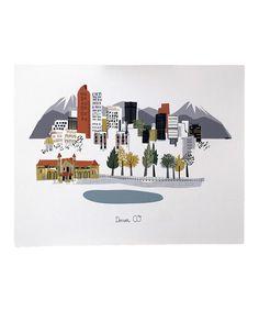 Love this Denver City Print by albie designs on #zulily! #zulilyfinds