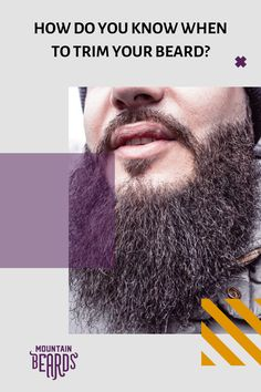 Is it time to trim your beard? There comes a time when your beard is too long, too tangled and too uncomfortable. Tips and help for you to understand when to trim your beard. Beard Trimming Guide, Beard Trimming Styles, Beard Styles, Diy Beard Oil, Best Beard Oil, Stubble Beard, Beard Wax, Beard Shampoo, Beard Conditioner