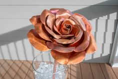 I made a copper flower for my Valentine (#QuickCrafter)