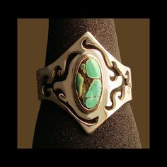 mens turquoise ring silver ring men