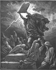 Moses Breaks the Tables of the Law - Gustave Doré (1832–1883)