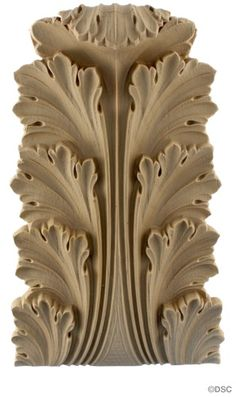 "Acanthus & Leaves: Offered in 10 sizes from 12"" to 2 7/8"""