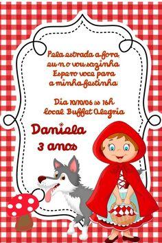 Convite digital personalizado Chapeuzinho Vermelho 007