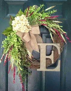 Spring/summer grapevine wreath