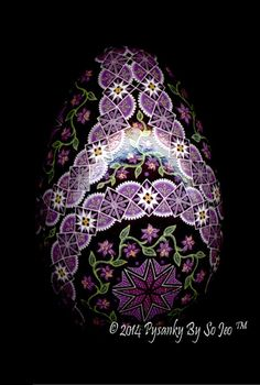 Magenta Circles Ukrainian Easter Egg Pysanky By So Jeo